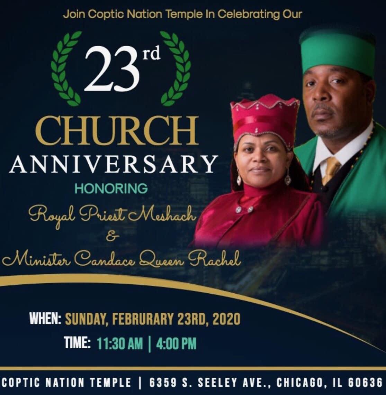 23rd Church Anniversary   February 23 @ 11:30a